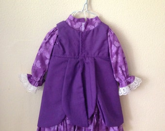 "Purple Petal Dress for 15-18"" doll"