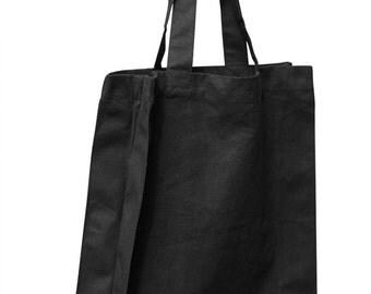 ECV-14 Canvas black tote bag