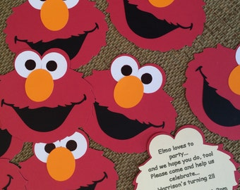 elmo birthday or baby shower invitations includes matching elmo