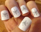 Illuminati Nail Decals