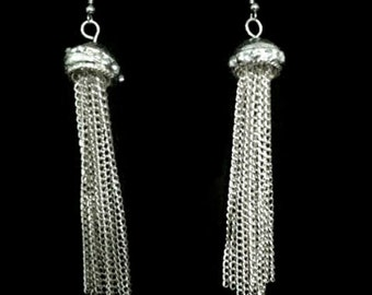 Silver metal dangle Earrings