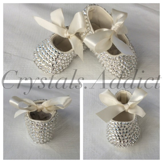 Baby Girl Ballerina Shoes with Swarovski by CrystalAddict00