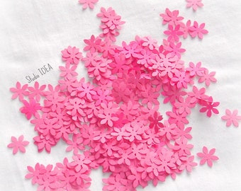 200  Pink  mini Flower Confetti, Cut-outs, or Choose your Colors- Set of 200 pcs