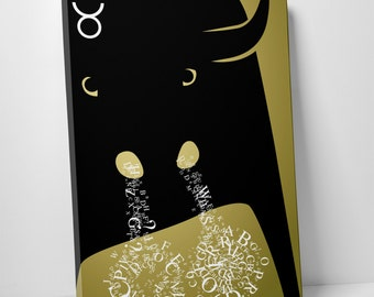 Zodiac Sign Taurus Gallery Wrapped Canvas Print