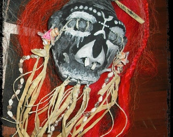 "Shrunken Head  ""Papa Legba"" Haitian Voodoo Zombie"