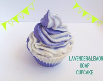 Lavender&Lemon Soap Cupcake/cold process soap