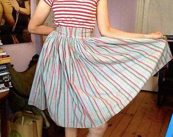 SALE*** Vintage 1960s Multi-Color Candy Stripe Skirt