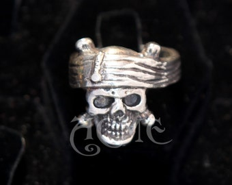 Depp Pirate Skull STERLING SILVER Ring Acme Original sculpt Pirates of the caribbean