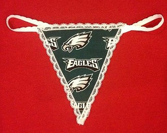 Womens PHILADELPHIA EAGLES G-String Thong Female Nfl Lingerie Football Underwear