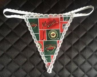 Womens MINNESOTA WILD  G-String Thong Female Nhl Lingerie Hockey Underwear
