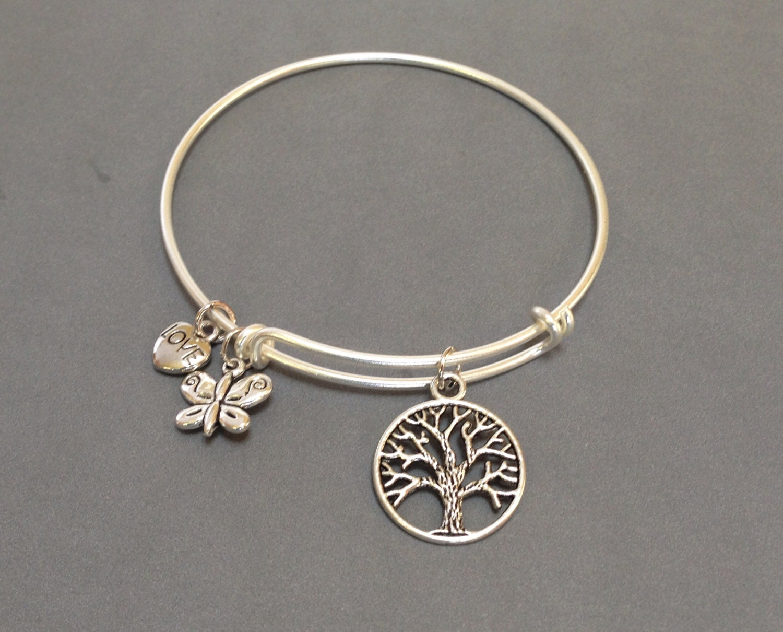 alex and ani inspired silver bracelet by catherinelilyjewelry