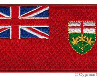 ONTARIO FLAG PATCH Canada iron-on embroidered applique Top Quality