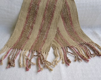 Handwoven Twill Stripe Scarf