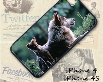 Wolf cub cell phone Case / Cover for iPhone 4, 5, Samsung S3, HTC One X, Blackberry 9900, iPod touch 4 / 017