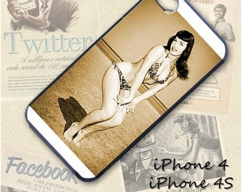Betty Page cell phone Case / Cover for iPhone 4, 5, Samsung S3, HTC One X, Blackberry 9900, iPod touch 4 / 133