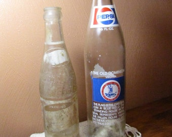 Two (2) Vintage Pepsi Cola Bottles