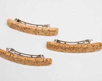 Wood hair clip