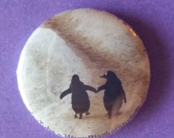 """Cute Penguins 1"""" Button"""