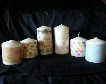 Pillar candles with image of your choice