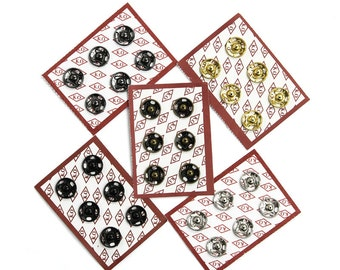 Sets of High Quality Sew-on Snaps, 12mm, 5 Colors Available