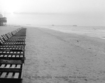 Gulf Shores, AL Black and White Fine Art Film Photo – Gulf Shores Morning –  Home Decor Travel