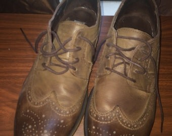 Vintage style GBX Oxfords Brown Leather US Mens 10.5