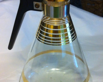 Inland Glass Carafe made in the USA  true vintage