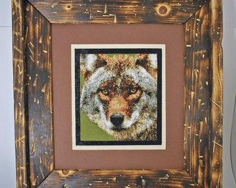 coyote beaded picture
