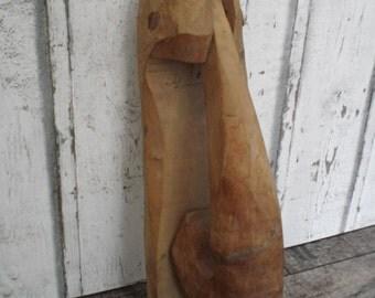 folk art wooden door knocker