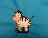 Zebra Chair Pocket (1 Chair Pocket - You Pick the Wording)