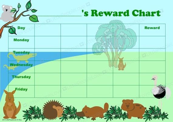 australian animal reward chart