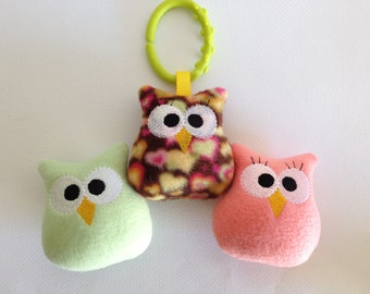 Embroidered Baby Owl / Stuffed Toy / Ornament
