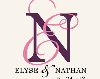 Custom Wedding Monogram Design, Invitation Monogram, Custom Designed Monogram, Entwined Monogram, Elegant Monogram, Digital File