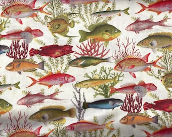 Fish Under the Sea Curtain Valance