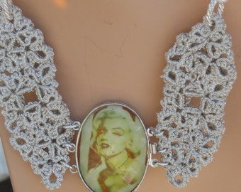 Marilyn Monroe Tatted Necklace