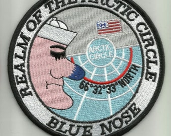United States Navy - Realm Of The  Arctic Circle- BLUE NOSE Military Patch