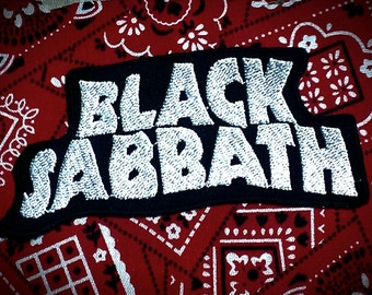 "Vintage ''Black Sabbath."" Embroidered Iron -On Patch"