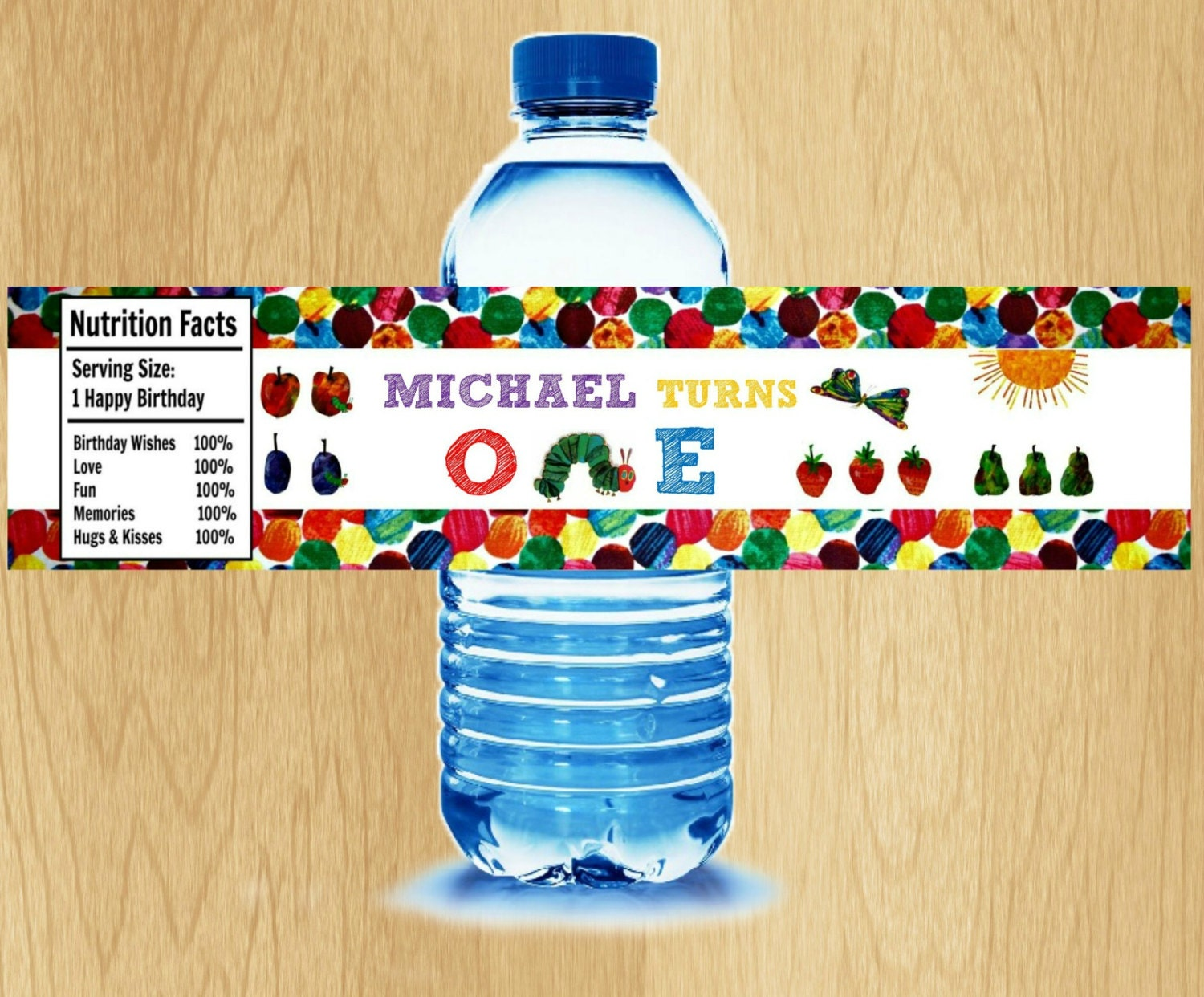 Very Hungry Caterpillar Water Bottle Label By Kidspartypixel