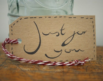 Just For You gift tags set of 6