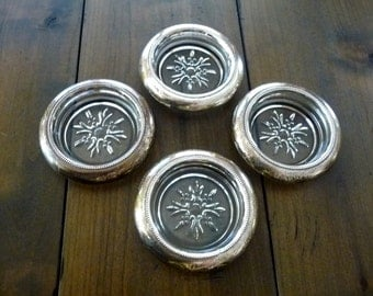 Silver Plated Glass Coasters