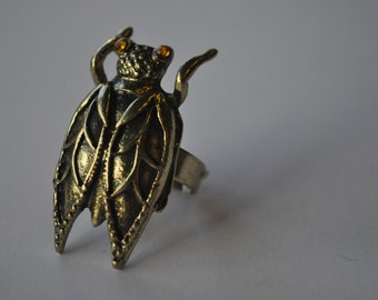 Bug Insect Adjustable Gold Ring