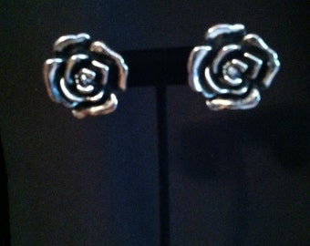 Large Rose post earring