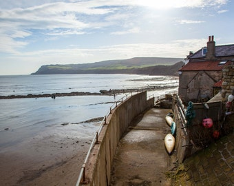 Large Robin Hood Bay Whitby North Yorkshire Canvas Art Wall Art Picture