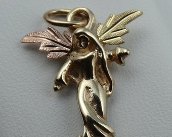 Graceful Guardian Angel 10k Black Hills Gold Charm/Pendant