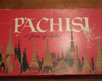 Vintage 1962 Pachisi Board Game by Whitman's - A Game of India
