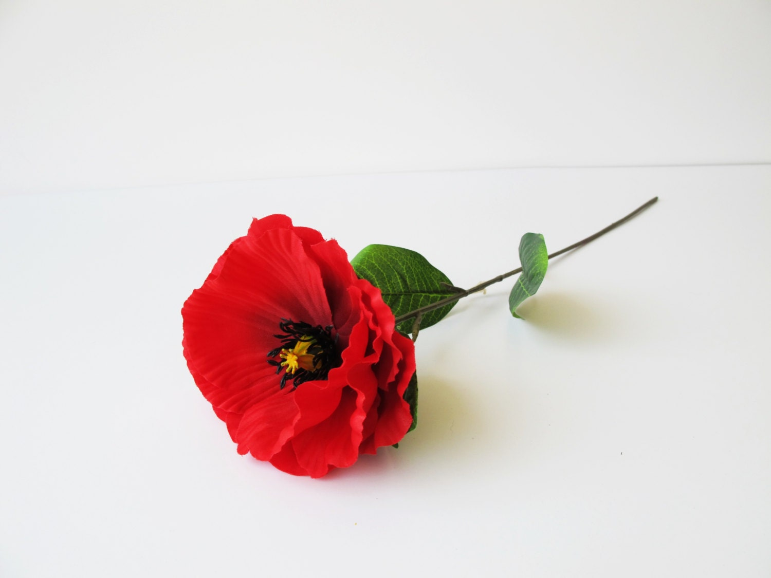 how to make fake poppy flowers