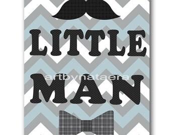 Little Man Download Art Printable Nursery Baby Boy Nursery Digital Art Baby Art Digital Decor Digital Print 8x10 11X14 INSTANT DOWNLOAD