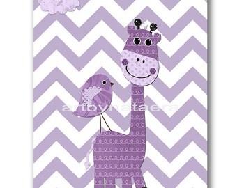 Giraffe Nursery Download Art Printable Nursery Print Baby Girl Nursery Decor Baby Art Digital Print Digital Art 8x10 11X14 INSTANT DOWNLOAD
