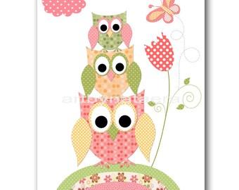 owl decor owl nursery print baby nursery art digital download art printable digital download print 8x10 - Owl Decor