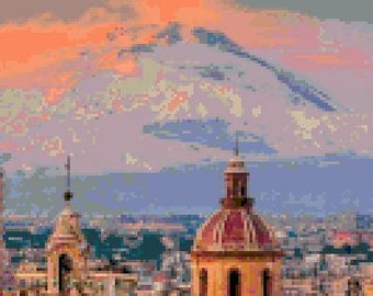 Sunset in Bologna Cross Stitch Chart